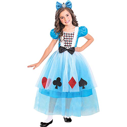 Suit Yourself Alice in Wonderland Miss Wonderland Costume for Girls, Size Small, Includes a Detailed Dress and Headband