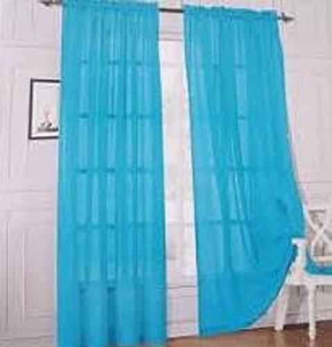 WPM 2 Piece Beautiful Sheer Window Elegance Curtains/drape/panels/treatment 60