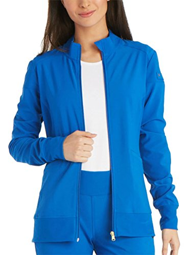 Royal Blue Jacket - Cherokee iFlex CK303 Zip Front Warm-Up Jacket Royal M