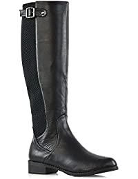 Womens Stretch Calf Knee High Boots Elasticated Winter Casual Boots