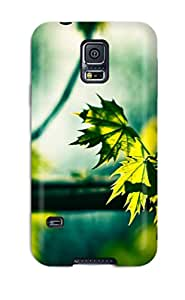 Galaxy S5 Hard Back With Bumper Silicone Gel Tpu Case Cover Green Leaves In The Sun Summer Maple Tree Nature Other