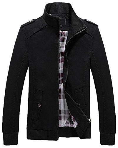 Black Casual Mens Jacket - 1