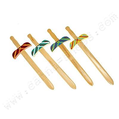 Épée en bois 50cm pour enfants et déguisements - x1