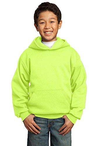 Yellow Port (Port & Company Boys' Pullover Hooded Sweatshirt XL Neon Yellow)