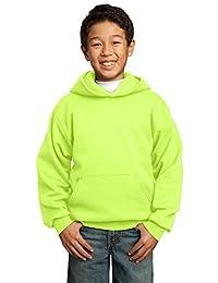 Port & Company Boys' Pullover Hooded Sweatshirt M Neon Yellow