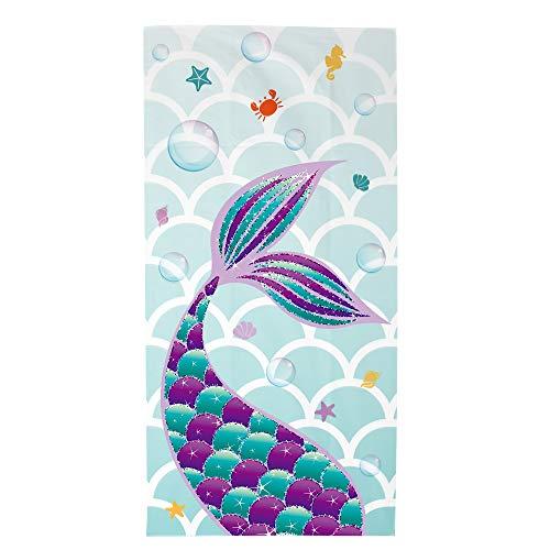 WERNNSAI Mermaid Beach Towel - Pool Mermaid Party Supplies