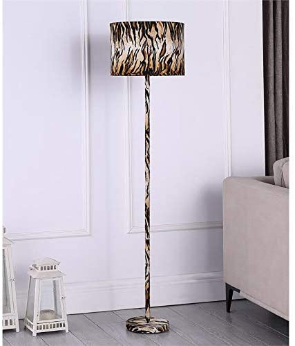 ORE International 59″ Faux Suede Floor Lamp