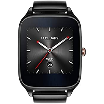 ASUS ZenWatch 2 Gunmetal Gray 41mm Smart Watch with HyperCharge Battery, 1.63-inch AMOLED Gorilla Glass 3 TouchScreen, 4GB Storage, IP67 Water Resistant (International Version)