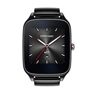 ASUS ZenWatch 2 Gunmetal Gray 41mm Smart Watch with HyperCharge Battery, 1.63-inch AMOLED Gorilla Glass 3 TouchScreen, 4GB Storage, IP67 Water Resistant