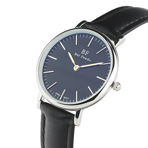 BETFEEDO-Wrist-Watch-for-Women-Waterproof-Ultra-Analog-Quartz-Classic-Dress-Watches-with-Black-Leather