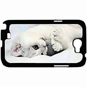 New Style Customized Back Cover Case For Samsung Galaxy Note 2 Hardshell Case, Back Cover Design Cat Personalized Unique Case For Samsung Note 2