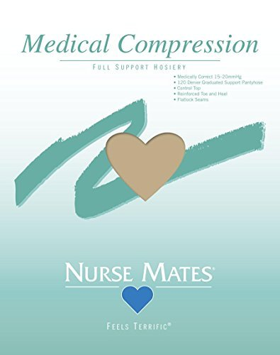 Nurse Mates Medical Compression Pantyhose 15-20mmHg, Nude