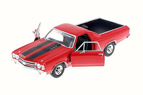 Motormax 79347RD 1970 Chevrolet El Camino SS 396 Red 1/24 Diecast Model Car