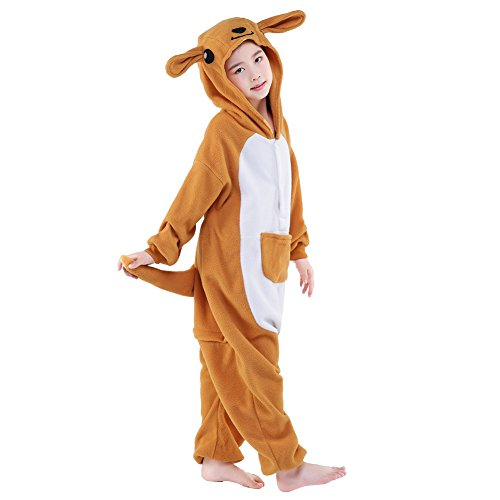 Sunrise Childrens Pajamas Sleeping Wear Anime Cosplay Onesie Homewear (115#, Kangaroo)