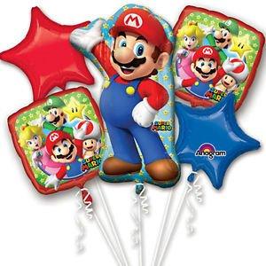 Amazon.com: New Super Mario Brothers 5pc globo ramo ...