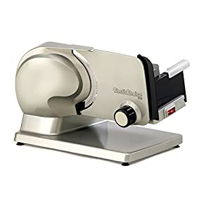 Chef'sChoice 615A Electric Food Slicer Features Precision Slice Thickness Control and Tilted Food Carriage for Fast and Efficient Slicing with Removable Blade for Easy Clean, 7-Inch, Gray