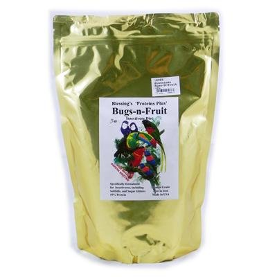 Blessings Bugs-N-Fruit Low-Iron Insectivore Diet (3Lb)