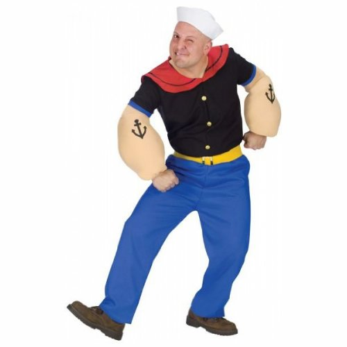 Popeye Costume - Plus Size - Chest Size -