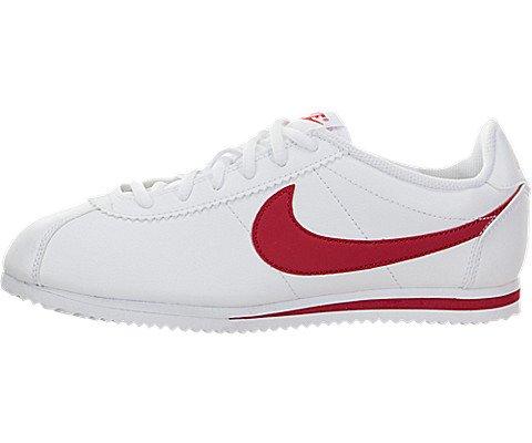 Nike Jungen Cortez (GS) Laufschuhe, Weiß/Rot (White/University Red), 39 EU