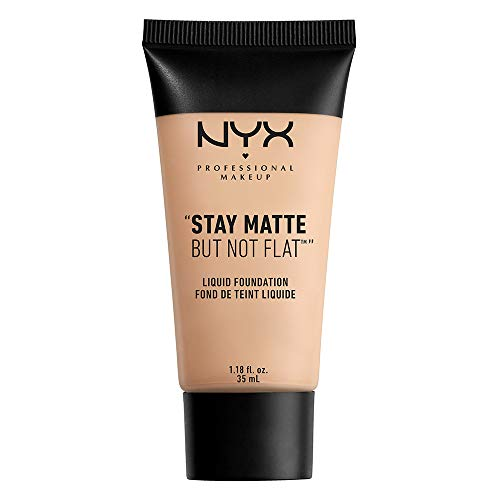 NYX PROFESSIONAL MAKEUP Stay Matte but not Flat Liquid Foundation, Light Beige, 1.18 Fluid Ounce