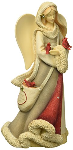 Enesco Heart of Christmas Angel with Cardinals Figurine 7.68 in