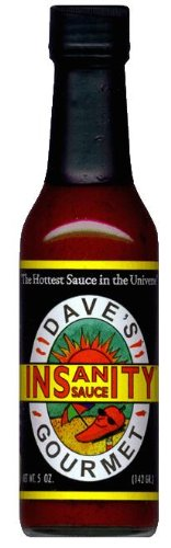 - Dave's Gourmet Insanity Hot Sauce, 5-Ounce Bottles (Pack of 3)