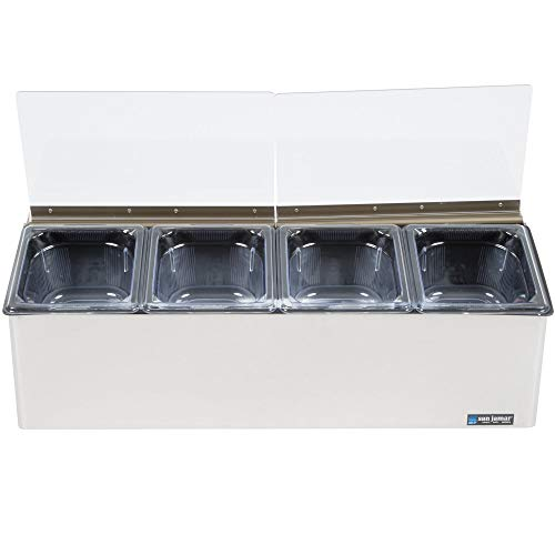 - TableTop King FP8244FL EZ Chill Self Service Condiment Center with 4 Pans