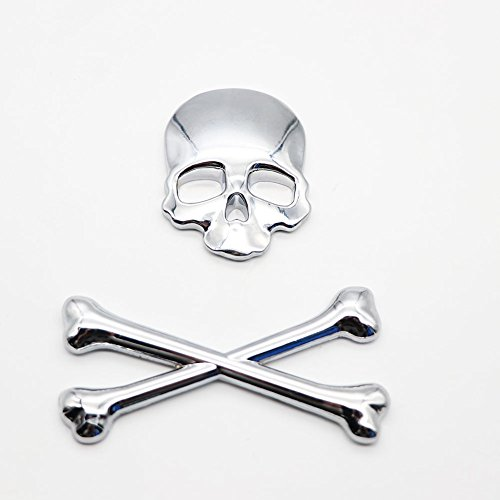 Skull Crossbone Pirate Car 3D Emblem Logo Metal Badge Sticker for Car Motorcycle -