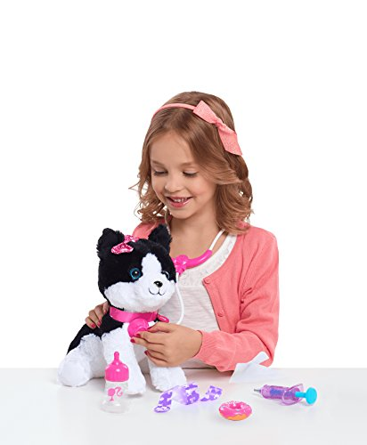 Barbie Vet Bag Set Black Brown White Kitty with Pink Backpack