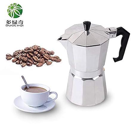 ShoppyStar DUOLVQI - Cafetera italiana para cafetera de café con ...