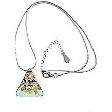 Taiwan Travel Night market Snake Triangle Shape Pendant Necklace Jewelry With Chain Decoration Gift