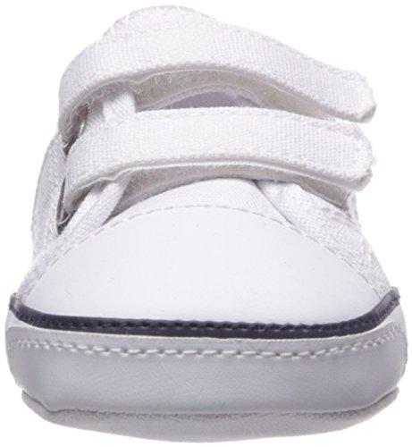 EZ Girls' Polo Pony White Canvas Navy K Dyland q7AAwx8np