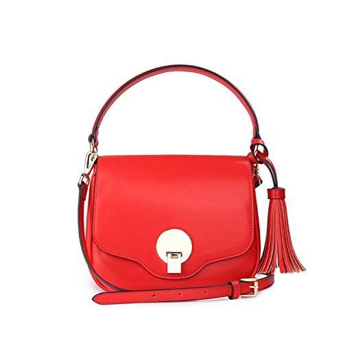 Sac à main pour femme Petit sac à bandoulière de grande capacité Sac à provisions rouge