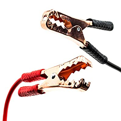 Bastex 12ft Heavy Duty Power Booster Jumper Cables 10 Gauge with Insulated Handle on Copper Clips and Bastex Storage Bag