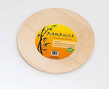 Bambusa Disposable and Biodegradeable Bamboo Plates Eco-Friendly Sturdy and Strong Elegant Party Dinner & Amazon.com: Bambusa Disposable and Biodegradeable Bamboo Plates Eco ...