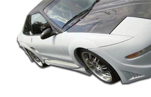 (Duraflex Replacement for 1993-1997 Ford Probe Millenium Wide Body Front Fender Flares - 2 Piece)