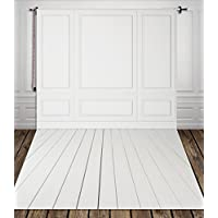 5x7ft White Wall And White Wood Floor Backdrop Photography Background Backdrop For Newborns Xt-3602