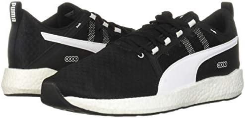 PUMA Men's NRGY Neko Turbo Sneaker Black White, 13 M US
