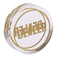 D DOLITY オールイン  ボタン  透明 ポーカーカードゲーム テキサスホームデム 透明 高品質 クリスタルの商品画像