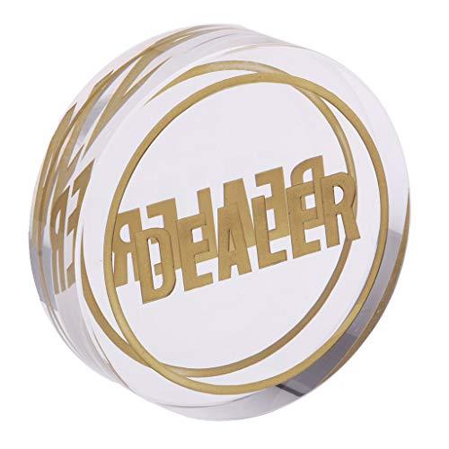 D DOLITY オールイン  ボタン  透明 ポーカーカードゲーム テキサスホームデム 透明 高品質 クリスタル