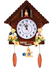 Cuckoo Clock Cuckoo Wall Clock Natural Bird Voices Or Cuckoo Call Tree House Wall Clock with Timed Alarm Clock for Home