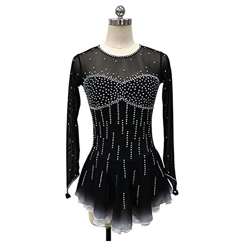 Abbigliamento Lunga Donne Di Allenamento Per Black Figura Pattinaggio Competizione Manica Vestito Xiaoy Gara OtWxUSBnn