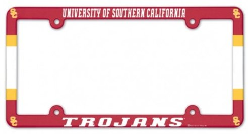 (Wincraft University of Southern California USC Trojans Official NCAA 12''x6'' Plastic License Plate Frame)