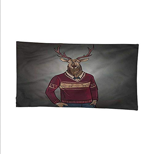 Retrowall Tapestry for bedroombeach tapestryHipster Animal in a Sweater 84W x 54L Inch
