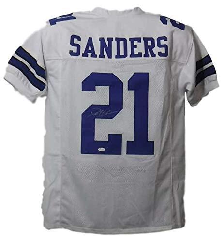 Deion Sanders Autographed Dallas Cowboys White Size XL Jersey JSA 15183 ()