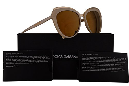 Dolce & Gabbana DG4304 Sunglasses Beige Horn w/Brown Mirror Lens 57mm 3084F9 DG - Dg4304