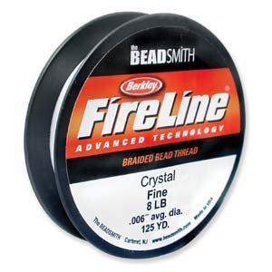FireLine Braided Beading Thread Crystal