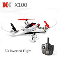 New XK X100 With 3D 6G Mode Inverted Flight 2.4G 4CH 6 Axis LED RC Quadcopter RTF By KTOY