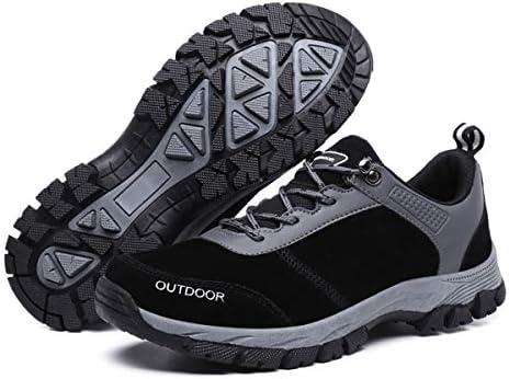 gracosy Hombres Zapatos de Senderismo Al Aire Libre Zapatos Bajos Antideslizante Botas de Nieve Zapatillas de Deporte Montañismo Running Entrenamiento Ultraligero Sneakers 2019,Gris Negro: Amazon.es: Zapatos y complementos