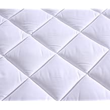 "Everest Premium Plus Mattress Pad HypoallergenicQuilted Mattress Topper, Deep Pocket, Stretch to Fit, Microfiber,Extra Plush (Sleeper Sofa Compressed, Sleeper Sofa Queen (60"" x 72"" + 12"" depth) 15oz)"